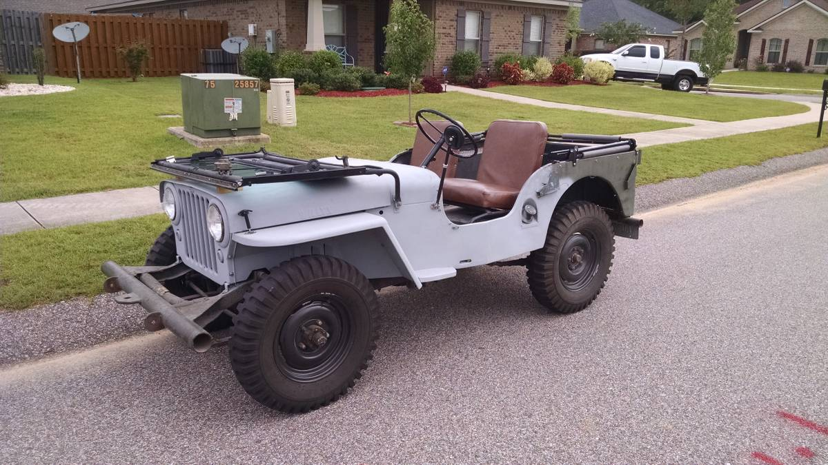 1946 willys cj2a jeep good condition for sale in mobile al 4 800. Black Bedroom Furniture Sets. Home Design Ideas