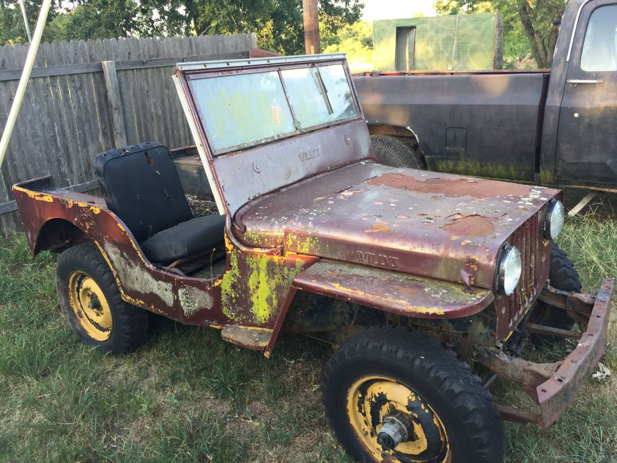 1947 willys brown jeep for sale in austin tx 1 000. Black Bedroom Furniture Sets. Home Design Ideas