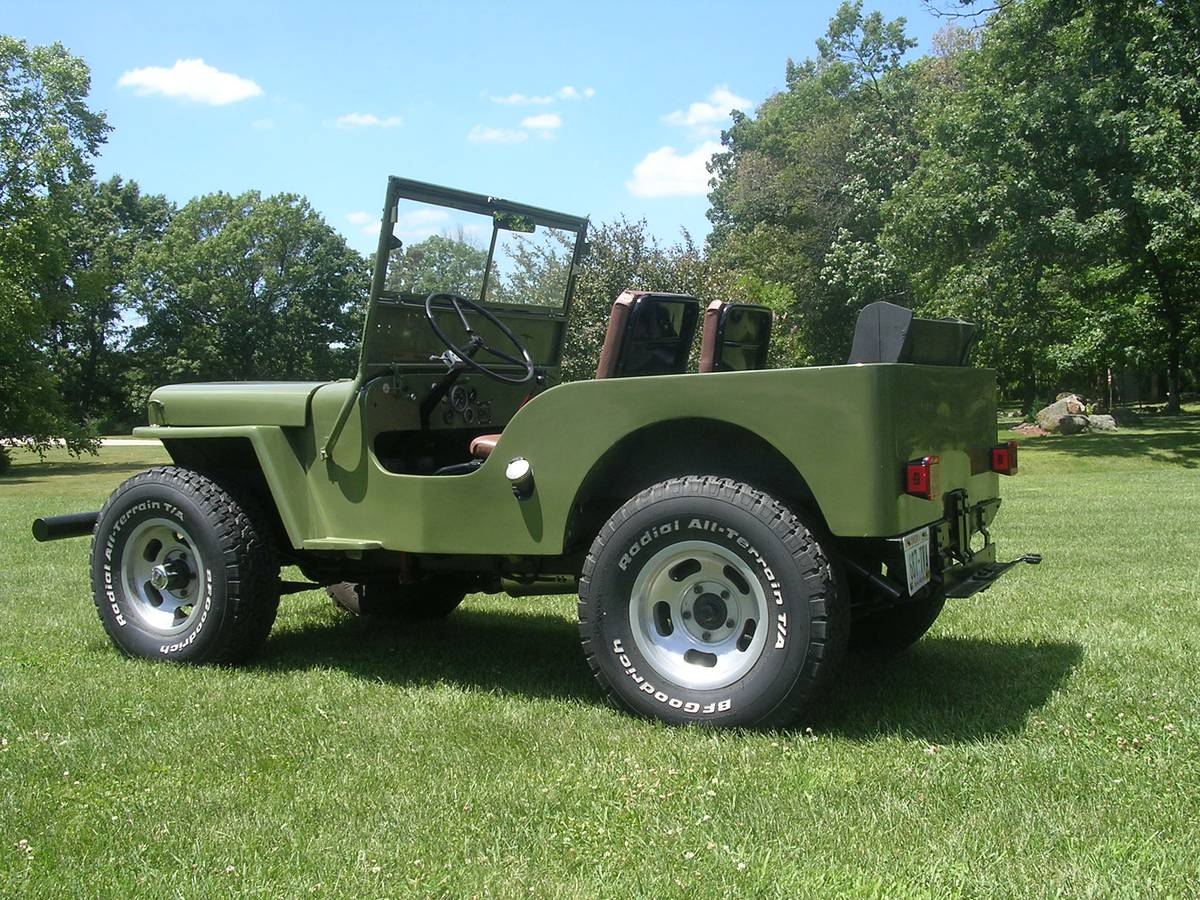 1948 willys cj2a jeep for sale in madison wi 7 500. Black Bedroom Furniture Sets. Home Design Ideas