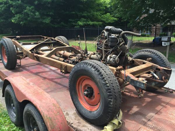 1953 Willys Pickup Truck Chassis For Sale in Kokomo, IN - $800