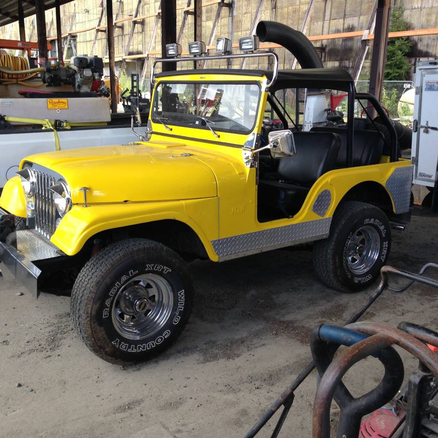 1956 willys cj5 yellow jeep for sale in snoqualmie wa 6 200. Black Bedroom Furniture Sets. Home Design Ideas