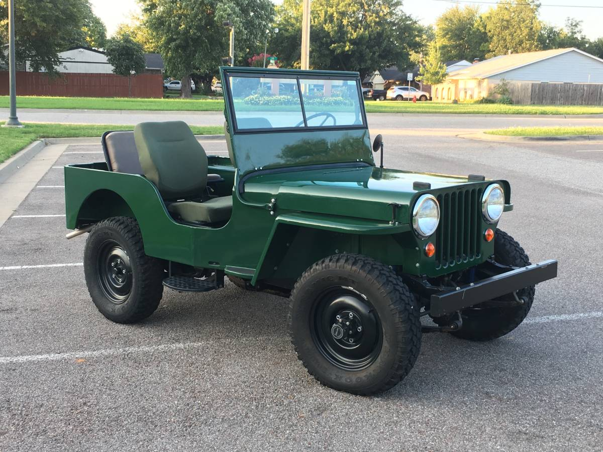 1948 CJ2A Jeep Willys Frame off Resto For Sale in Oklahoma
