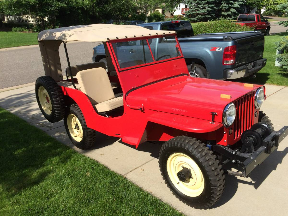 1946 Willys Jeep Cj2a Wiring Diagrams 1961 Truck Diagram For Sale In Woodbury Mn 15 800 1951 Pick Up