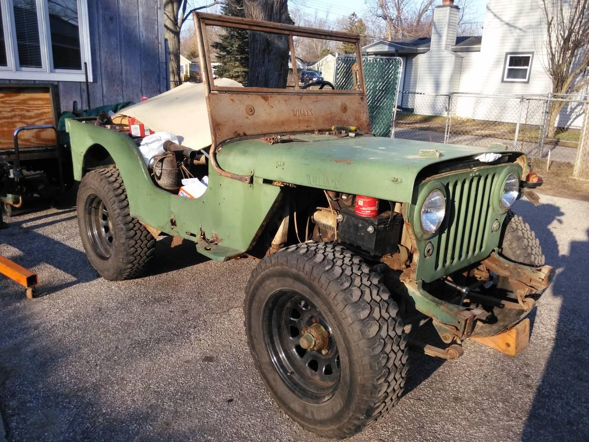 1946 Willys CJ2A Project For Sale in Auburn Hills, MI - $2,500
